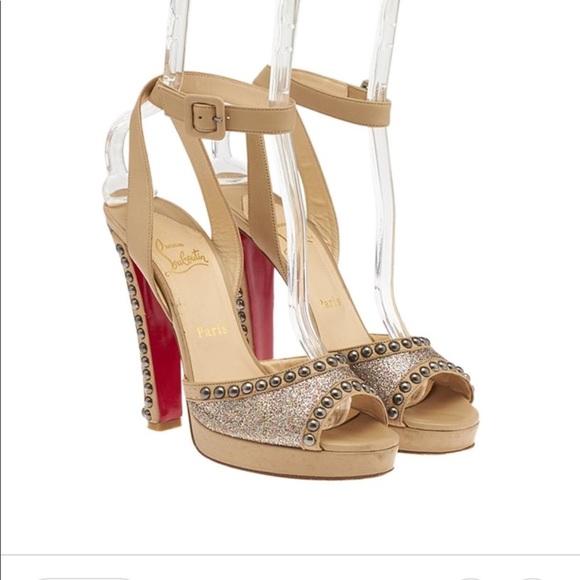 4b2b980b0924 Christian Louboutin Shoes - Christian Louboutin Zobra 120 studded glitter